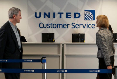 United Customer Service desk