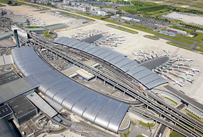 Charles de Gaulle airport T2 E and F