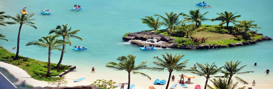 Disability Holiday: Waikiki Beach Lagoon, Hawaii