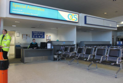 Special Assistance Desk at Belfast airport