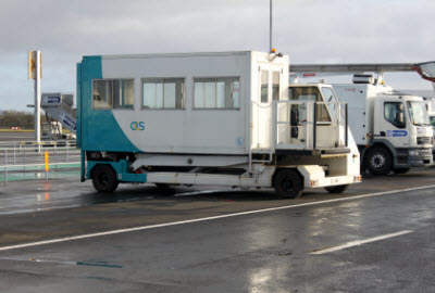 Ambulift at Belfast airport