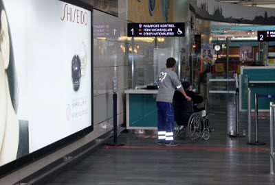 Disabled Passengers Passport Control Lane