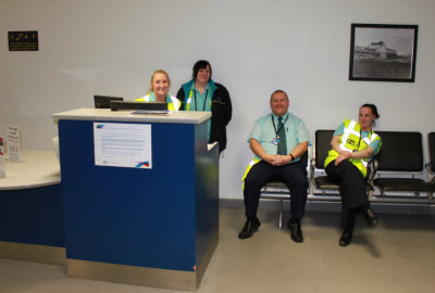 Special assistance meeting point at Manchester airport