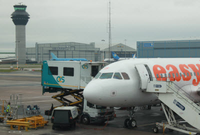 Ambulift in operation at Manchester airport