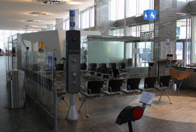 Zurich airport landside PRM waiting area