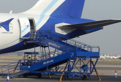 IndiGo airline boarding ramp