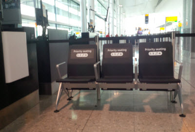 Heathrow T2 priority seats