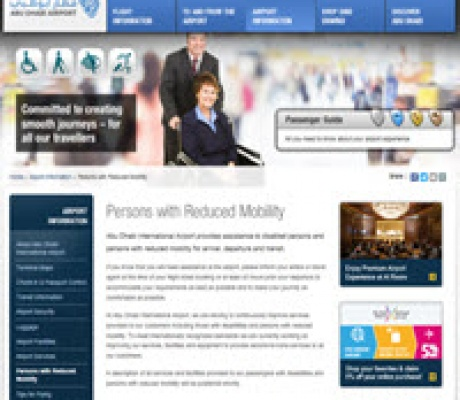 Abu Dhabi International Airport accessibility report