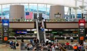 Passengers eat well at Denver International Airport