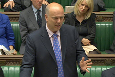 UK Secretary for Transport Chris Grayling MP