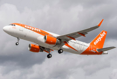easyjet Airbus A320 in flight