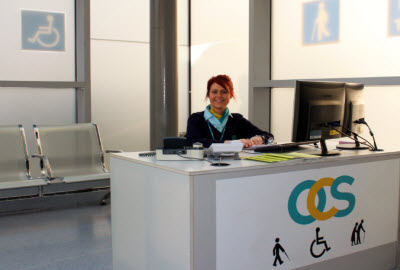 OCS help desk at Dublin airport