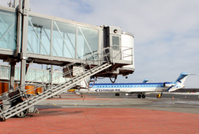 Airbridge in service at Tallinn airport