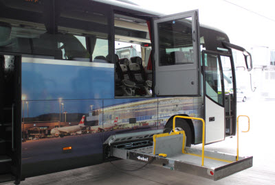 Accessible bus for up to 16 wheelchair users