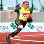 South African Paralympics runner Oscar Pistorius. Original photograph by Elvar Pálsson from Iceland.