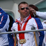Lee Pearson, British Paralympics equestrian, at the parade in London. Author: Flickr user Chris Brown.