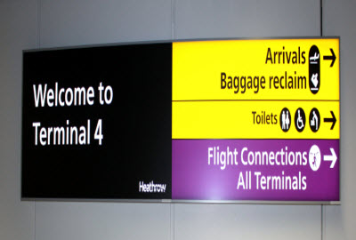 Heathrow T4 signage