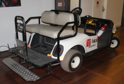 Falck buggie at CPH airport