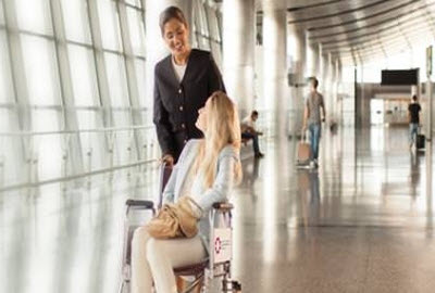 Wheelchair assistance at Hamada International Airport