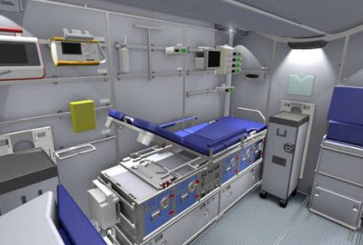 Lufthansa flying intensive care unit